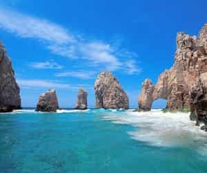 beach, sea, and mexico image