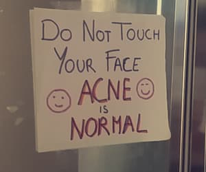 acne, face, and miroir image