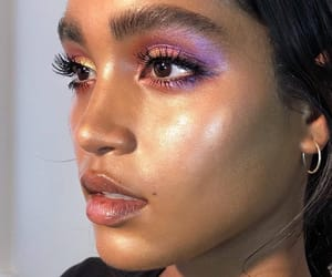 makeup, model, and purple image