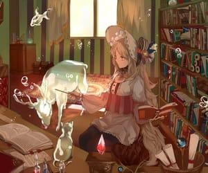 anime, magic, and anime girl image