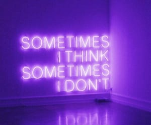 purple, quote, and think image