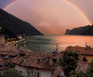rainbow, nature, and sea image