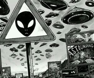 alien, wallpaper, and grunge image