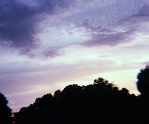 clouds, landscape, and lavender image