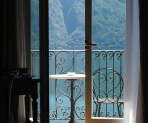 balcony, nature, and view image