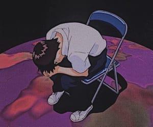 alone, Neon Genesis Evangelion, and boy image