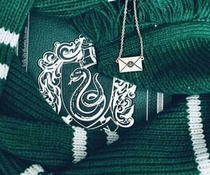 green, slytherin, and snake image