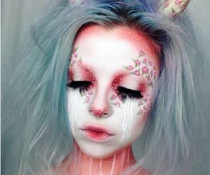makeup, Halloween, and make up image