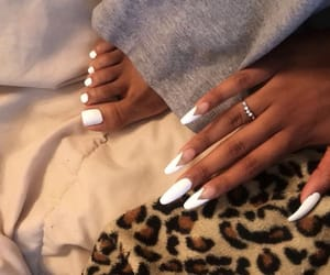 nails, desing, and white image