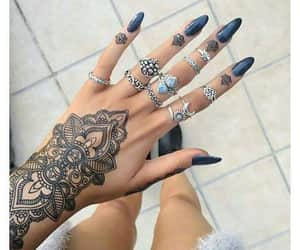 black, body art, and tattoo image