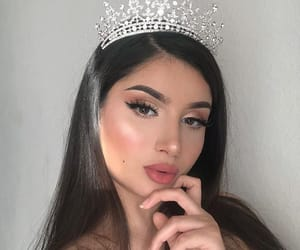 beauty, crown, and makeup image