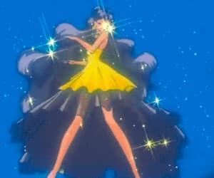 anime, blue, and gif image