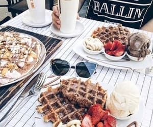 best friend, waffles, and chocolate image