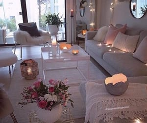 decoration, girly, and living room image