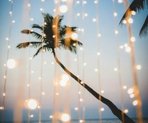 lights, 🌴, and 🌌 image