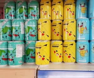 anime, pikachu, and soda cans image