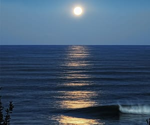 beaches, moonshine, and ocean image