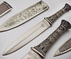 knife, aesthetic, and gold image