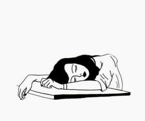 art, black, and sleep image