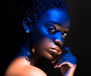 art, dark blue, and girl image