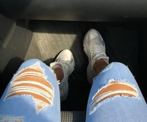 ripped jeans and shoe cam image