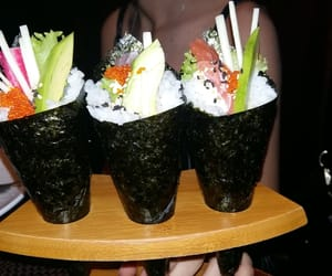 sushi, friends, and sushitime image