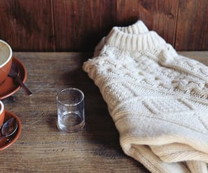 sweater, coffee, and autumn image