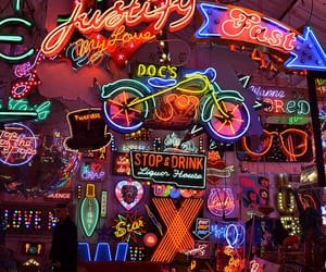 colors, neon, and lights image