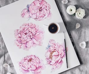 flowers, pink, and painting image