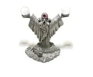 etsy, pewter jeweled, and wizard pewter figure image