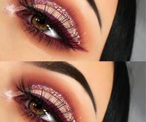 eyeliner, trucco, and warm image
