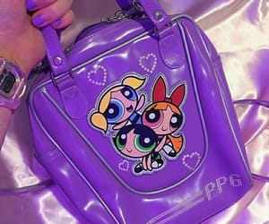 purple, 90s, and bag image
