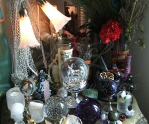 witchcraft, wiccan, and crystal ball image
