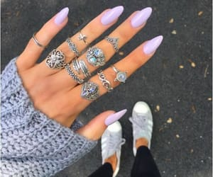 nails, fashion, and purple image