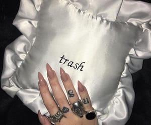 nails, pillow, and trash image