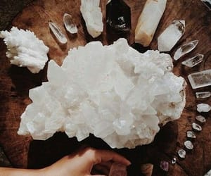 amazing, crystals, and white image