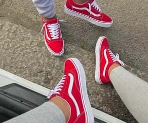 red, vans, and shoes image