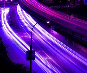 purple, light, and night image