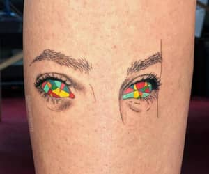 eyes, surrealist, and small tattoo image