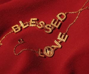 red, love, and gold image