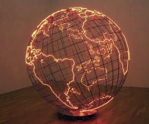 light, world, and globe image