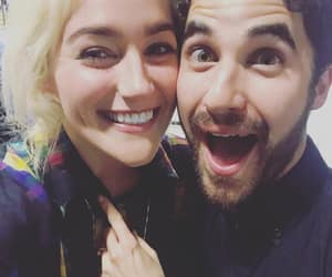 darren criss, criss colfer, and betsy wolfe image