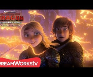 astrid, toothless, and video image