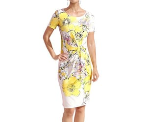 dress, yellow, and gelb image