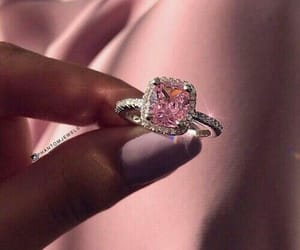 expensive, pink, and ring image