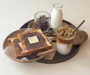 food, coffee, and milk image