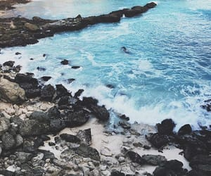 beach, rocks, and summer image