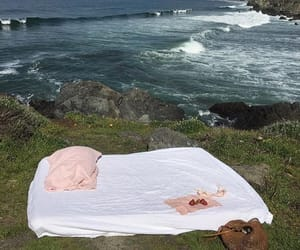 nature, bed, and sea image