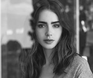 lily collins, black and white, and lily image