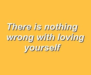 quotes, yellow, and love yourself image